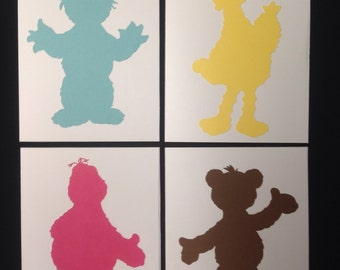 Set of 4 Sesame Street Blank Cards - Ready to Ship Sample Pack