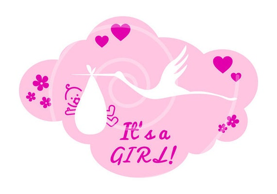 baby shower pictures clip art for a girl - photo #20
