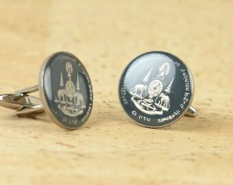 Cufflinks Thailand enamel Coin