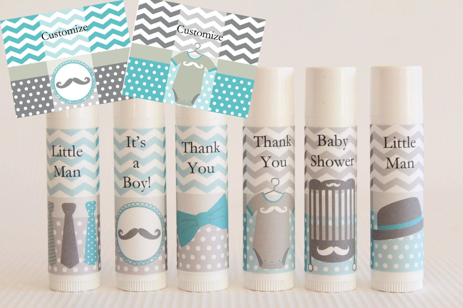 boy baby shower favor custom lip balm little by nanaspartypalace