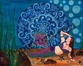 Henna Mermaid - Art print
