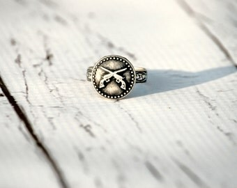 bonnie and clyde ring~ gun ring,western ring,gun jewelry,best friends jewelry,bohemian ring,trending jewelry,adjustable ring,couples jewelry