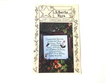 Cross Stitch Pattern, Candy Cane Pattern,  Christmas Pattern, Counted Cross Stitch, Christmas Motto
