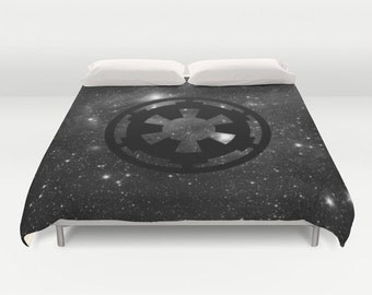 Star Wars Imperial Cog and Stars Duvet Cover