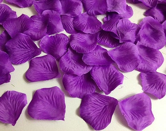 Dark Purple Rose Petals Bulk Silk Rose Petals Flower Petals For Wedding Centerpieces Decoration Aisle Runner Decor 1000 Petals HB-LX-009