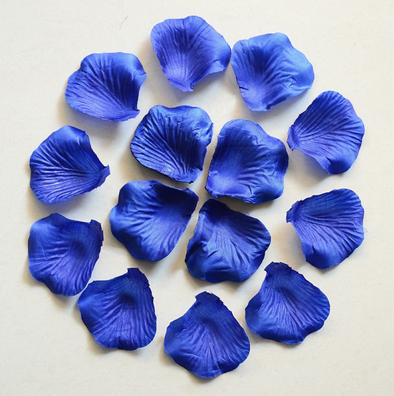 1000 pcs royal blue rose petals bulk silk rose petals fake