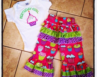 1st Birthday Outfit Cupcake Sixe 12 months