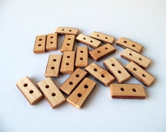 Wood Buttons - 20 Handmade Wood Buttons - Olive Tree Branch Toggle Buttons - 1 3/5 inches long - for knitting,purses,handbags,crochet