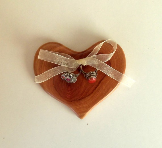Wedding Ring Bearer Pillow - Wood Heart Ring Holder-Branch Heart Ring Bearer Pillow-Hand made Wedding Ring Bearer.