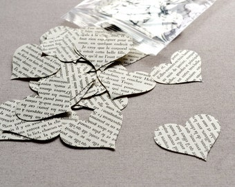 French Heart Book Page Table Scatter