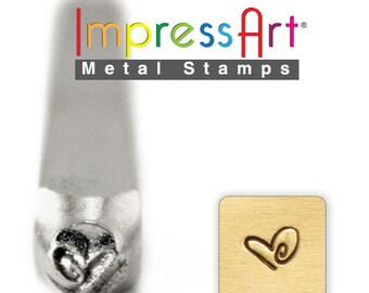 Boogie Heart Metal Design Stamp- Steel Stamp Heartl- 3MM-  Metal Stamping and Jewelry Design Metal Work-  SGSC158-I-6mm