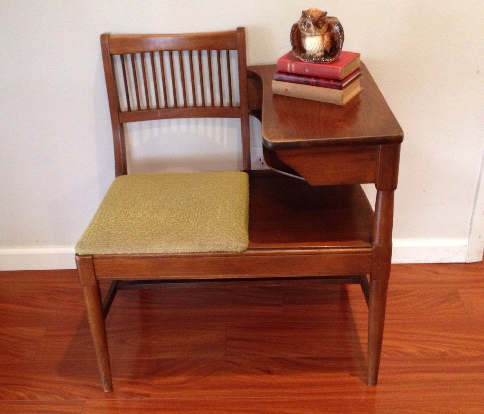 Mid century modern gossip bench by varvint on etsy for Mid century modern furniture orlando