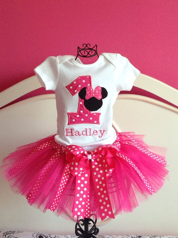Personalized Minnie Mouse First Birthday Tutu By