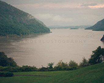 Dusk on the Hudson - Photographic print - new york, upstate, river, new england, ny,  USA, America, 12 x 12, 16 x 16, 20 x 20