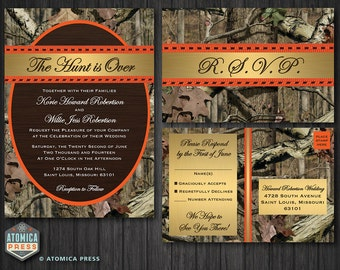 camo wedding invitation | etsy, Wedding invitations