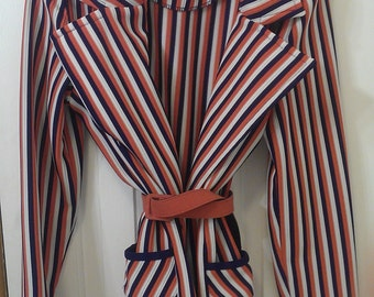 1960's vintage stripped blazer with awesome pockets.