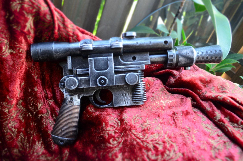 STAR WARS Han Solo DL44 Blaster Movie Prop Replica Gun Pistol w/sound and Batteries steampunk buy now online