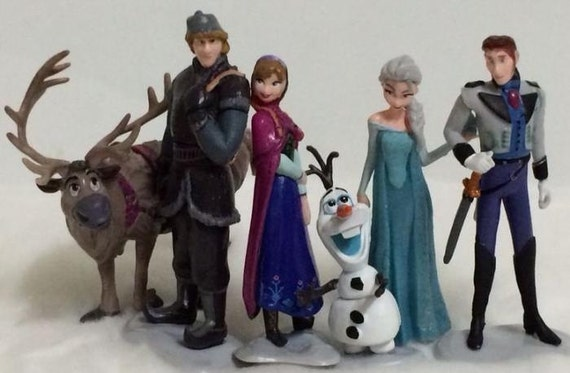 Frozen CAKE TOPPER Elsa Anna Olaf 6 Figure Set Birthday Party