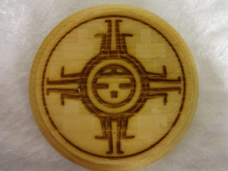 Wood Coasters Hopi Sun Symbol by GratefullyCrafted on Etsy Hopi Sun Symbol