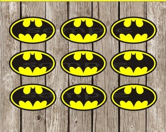 It's just a graphic of Playful Batman Cupcake Toppers Printable