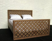 12th scale modern double bed