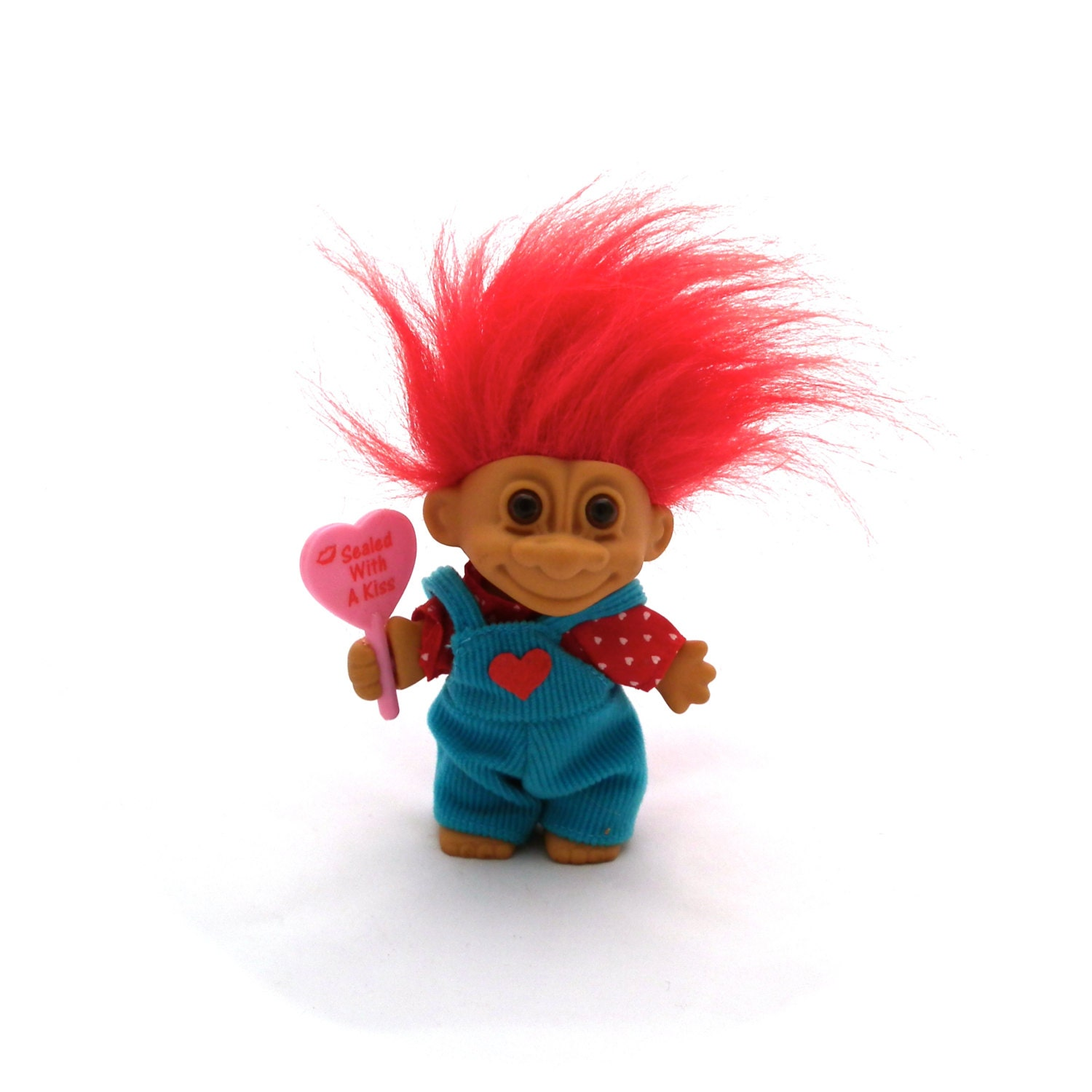 Russ Troll Doll Sealed With A Kiss Valentine Russ Troll Red