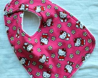 Hot Pink Hello Kitty Bib