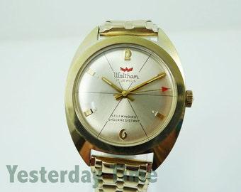 Waltham Men's Watch 1960's Shock Resistant 17 Jewel Automatic Movement