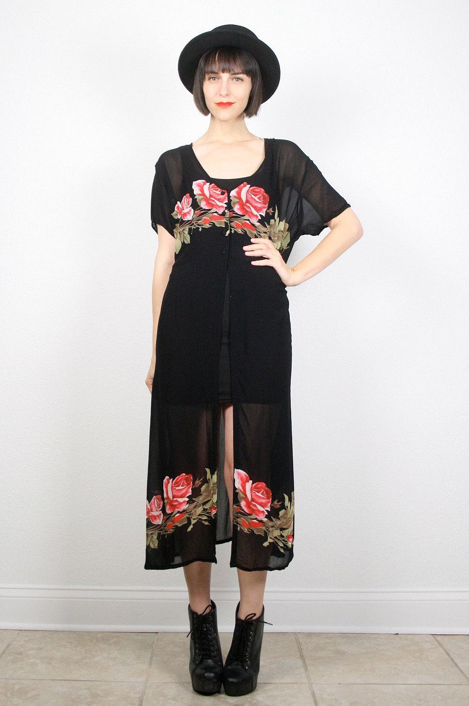 Black Sheer Kimono Jacket
