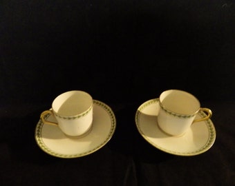 Limoges Demitasse Cups and Saucers