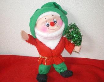 Vintage Large Felt and StyroFoam Christmas Elf / Gnome **Epsteam