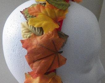 Autumn Leaves Headband- OOAK