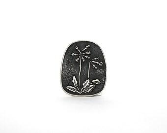Pewter Pin - Floral Pin - Vintage Pin - Flower Brooch - Swedish Jewelry - Pewter Jewelry - Narke - Vintage Brooch - Scandinavian Jewelry -