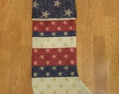 CLEARANCE Christmas Stocking - Glamorous Americana
