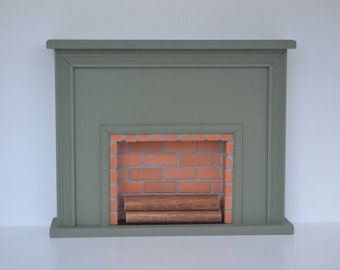 Flat painted fireplace