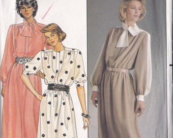 Butterick 3056 Vintage Pattern Womens Mid Calf Dress in 3 Variations Size 12, 14