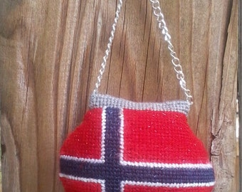 Needlepoint Norway flag Purse  Ornaments
