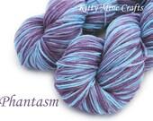 85/ 15 Polwarth/ Silk - DK Yarn - Phantasm - 330yd/ 302m - Hand Painted - Knitting, Crochet - Blue, Purple