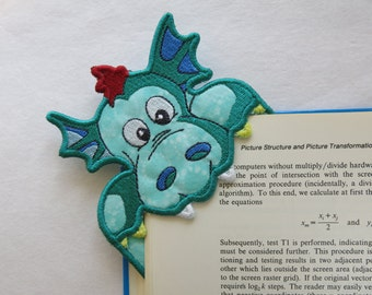 Embroidered Dragon Corner Bookmark