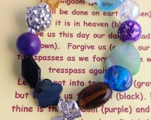 Lord's Prayer Our Father bracelet with note card and envelope