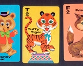 11 Colorful Animal Rummy Cards - Altered Books, Mixed Media, Collage, Birthday Cards