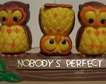 Vintage Owl Salt and Pepper Shakers
