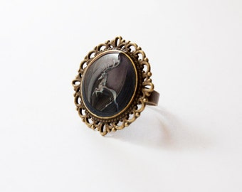 House Baratheon of Storm's End Crest - Game of Thrones Jewelry - Baratheon Ring - House Baratheon Stag Ring - Baratheon Jewelry - GoT Ring