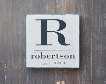 Wedding Gift, Bridal Shower Gift, Anniversary Gift, Engagement Gift, Important Date Sign, Custom Wood Wedding Sign