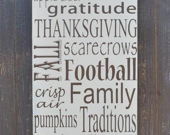 Fall Decor Sign, Thanksgiving Decor, Custom Wood Sign, Home Decor, Wall Art