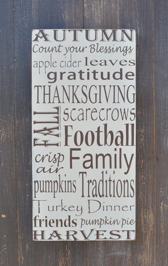 Fall Decor Sign, Thanksgiving Decor, Custom Wood Sign, Home Decor, Wall Art