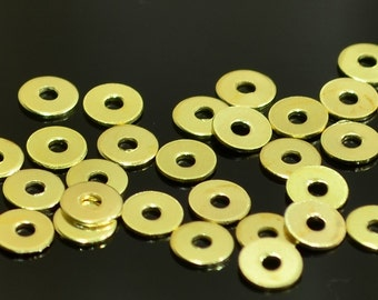 500 Pieces Gold Color 4,5 mm Stamping Round Disc