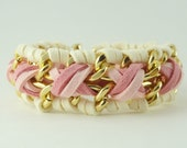 Think Pink - Chunky Cross Weave - Breast Cancer Awareness