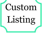 Custom Listing for Sam Jones Fundraiser