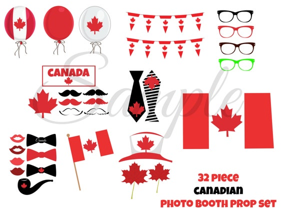 Instant download canadian canada day 32 piece photo booth props instant download canadian canada day 32 piece photo booth props printable download craft decoration party diy from lemonsqueezedesigns on etsy studio pronofoot35fo Gallery